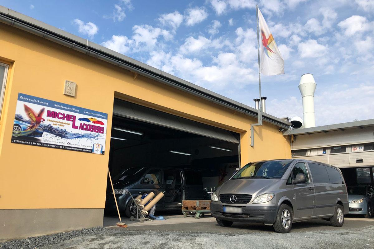 Lackiererei Michel - Werkstatthalle