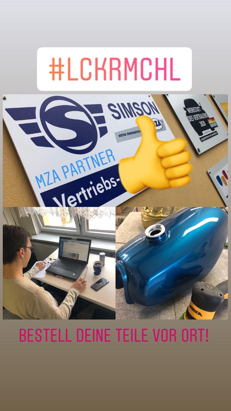 Neuaufbau Simson & MZA-Teile-Verkauf